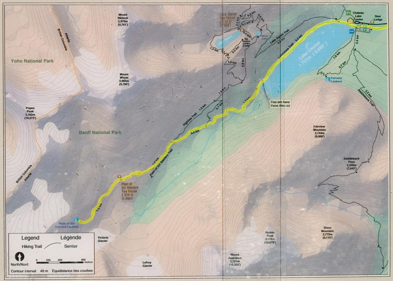 Monday, August 1, 2005 -- Lake Louise / Plain of Six Glaciers